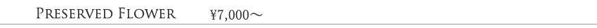 グラウンド、7000円、8000円、9000円、10000円代のプリザーブドフラワー