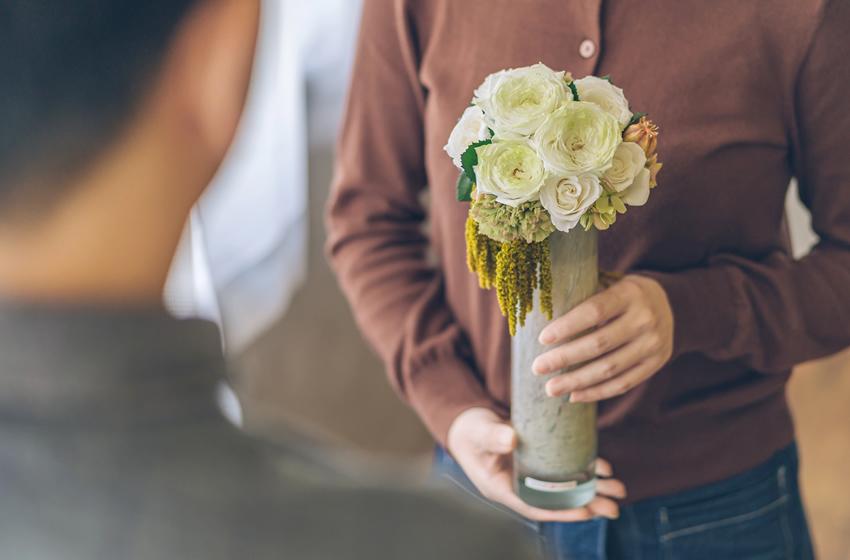 白寿に贈るプリザーブドフラワーのお花